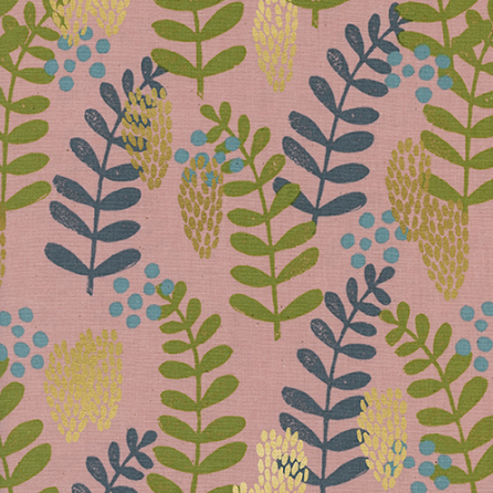 Jen Hewett for Cotton + Steel - Imagined Landscapes - Fern Dell Golden Metallic