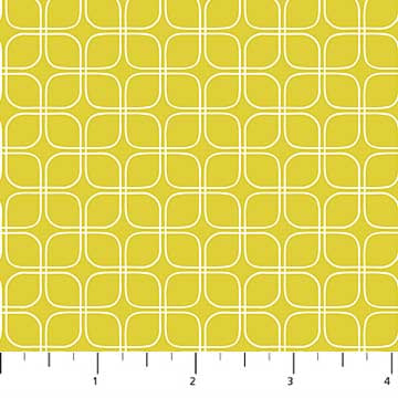 Figo Midsommar by Pippa Shaw - Modern Grid in lime