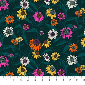 Figo Flora by Marisol Ortega - Wildflowers on Dark Teal