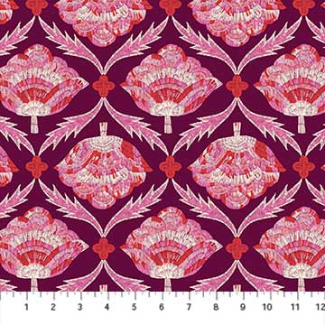 Glasshouse by Emily Taylor - Floral on Plum
