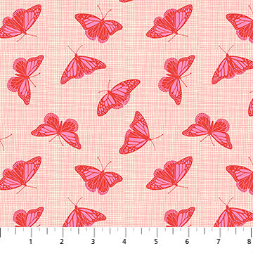 Glasshouse by Emily Taylor - Butterfly on Pink