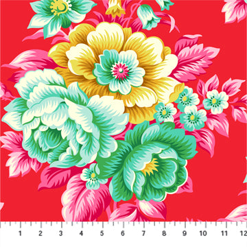 Figo True Kisses by Heather Bailey - Vintage Floral in Flame
