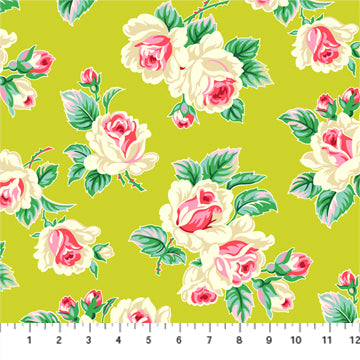 Figo True Kisses by Heather Bailey - Roses in Chartreuse