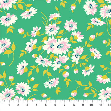 Figo True Kisses by Heather Bailey - Daisies in Teal