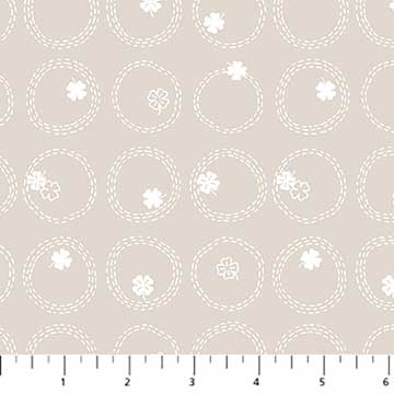 Figo Lucky Charms Basics - Clover in Light Taupe