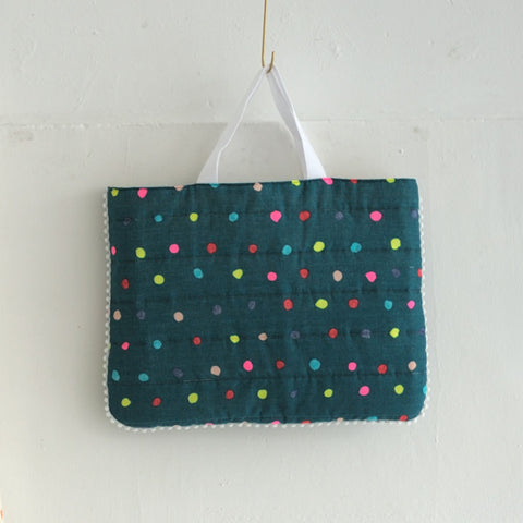Nani Iro Double Gauze - Colorful Pocho Teal/Neon