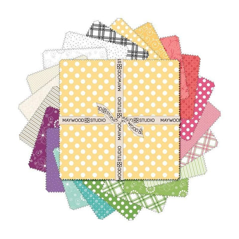 "Maywood Basics ""Spring"" - 10"" square Charm Pack 42 pieces (layer cake)"