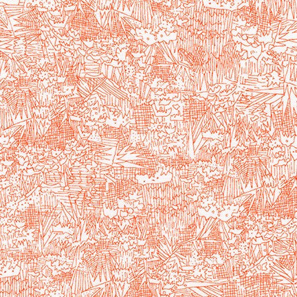 Friedlander by Carolyn Friedlander Green Wall in Tangerine