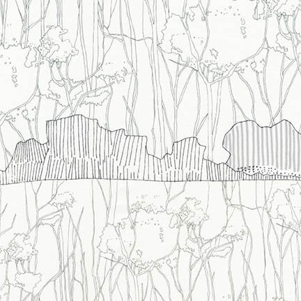 Friedlander by Carolyn Friedlander Tree Stripe Border in Iron