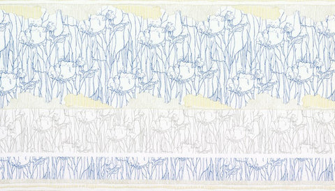 Friedlander by Carolyn Friedlander Tree Stripe Border in Sky
