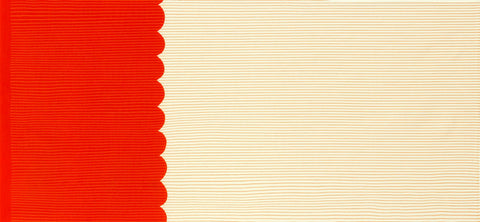 Carolyn Friedlander Harriot - Quilting Cotton Scallop Single Border in Tangerine