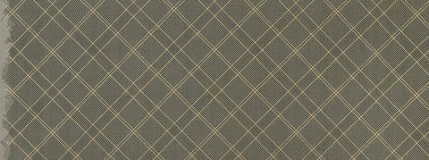 Carolyn Friedlander - Collection CF - Grid with Single Border in Pewter