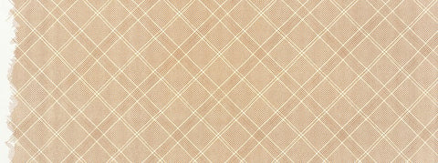 Carolyn Friedlander - Collection CF New Colours - Grid with single border in Roasted Pecan Metallic