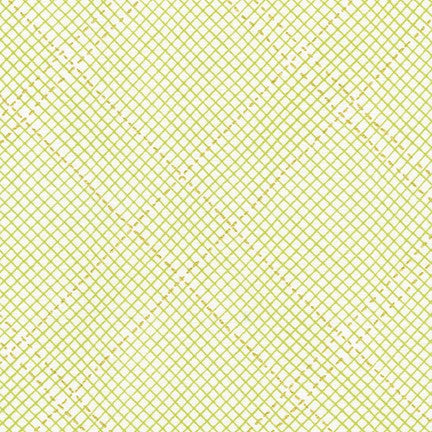 Carolyn Friedlander - Collection CF New Colours - Grid in Green Metallic