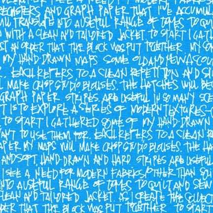 Carolyn Friedlander Widescreen  - Text In Paris Blue