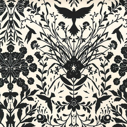 Black & White by Jennifer Sampou - Smoke Damask