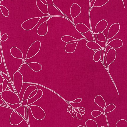 Spring Shimmer - Floral outline in Fuchsia