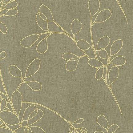 Spring Shimmer - Floral Outline in Linen