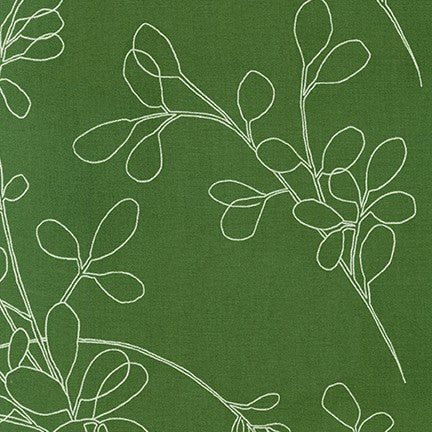 Spring Shimmer - Floral outline in Green