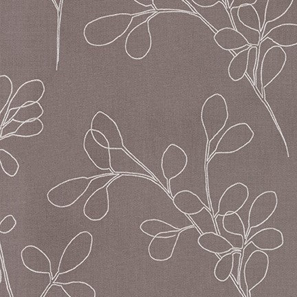 Spring Shimmer - Floral outline in Zinc