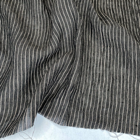Athena Linen Stripe in Black