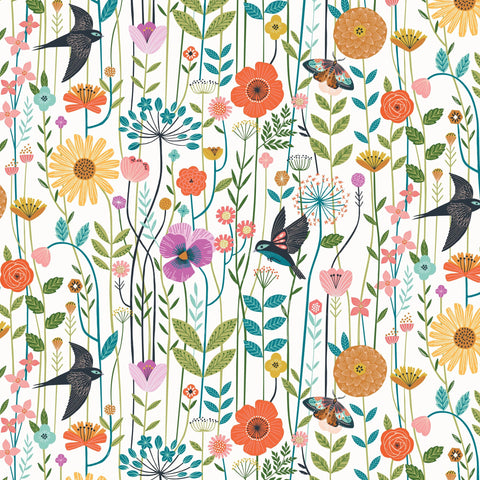 Dashwood Aviary by Bethan Janine - Meadow in White