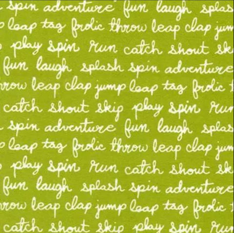 Robert Kaufman Cozy Cotton Flannel - Text in Grass