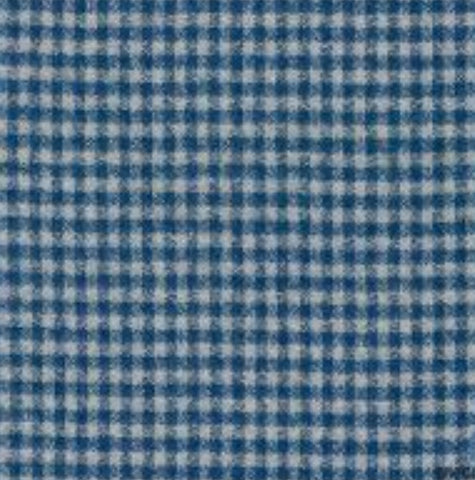 Robert Kaufman Mammoth Flannel - Small Check Blue