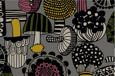 Cosmo Mushrooms Cotton Canvas
