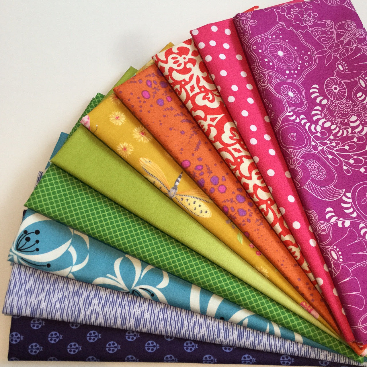 12 Months Of Rainbow Fabric Bundles