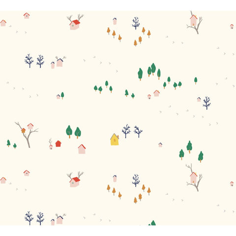 Birch Fabric Whistle Poplin - Tree House