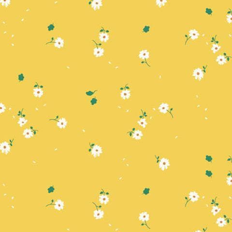 Birch Fabric Whistle Poplin - Sunny Daisies