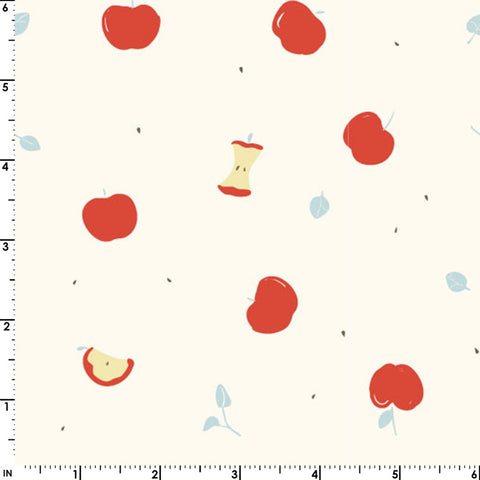 Birch Fabric Whistle Poplin - Apples
