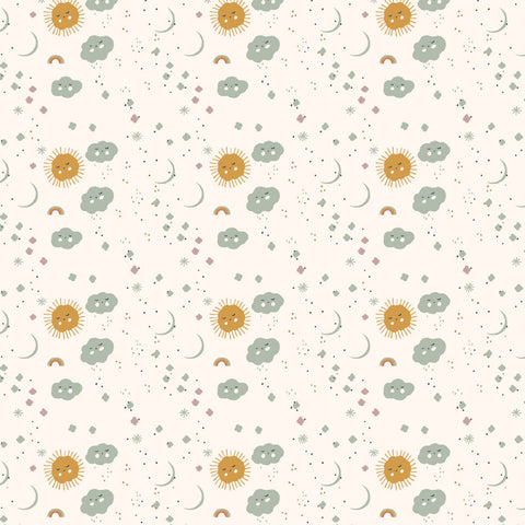 Birch Organic Cotton - Dreamer Poplin by Jenny Ronen - Sweet Dreams