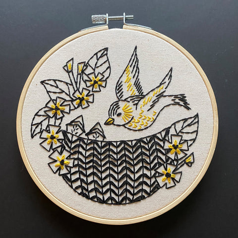 Hook Line & Tinker Embroidery Kit - Goldfinch