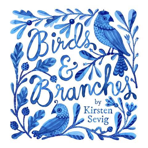 Birds and Branches Organic Cotton by Kirsten Sevig - Linnea