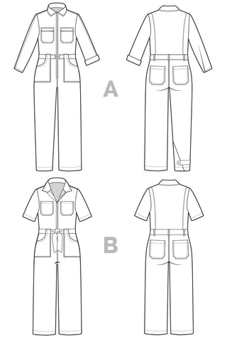 Closet Core Bianca Flight Suit / Boiler Suit Pattern