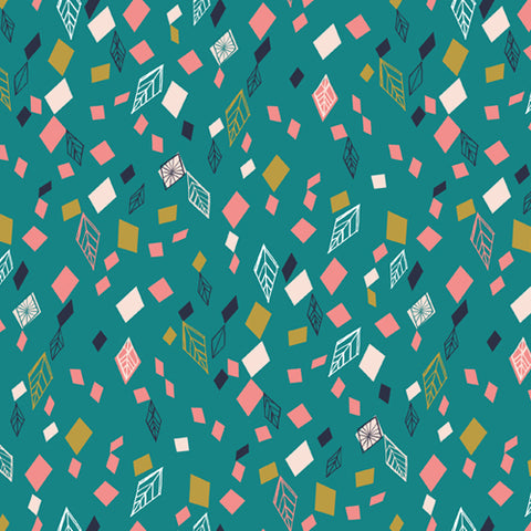 Dashwood Studios - Boho Meadow - Geometrics on Teal