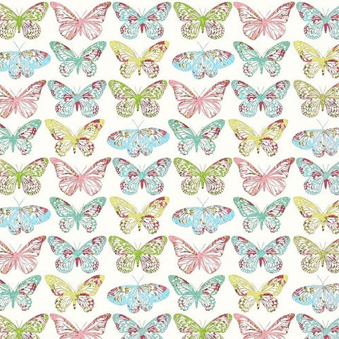 Fabscraps Serenity Butterfly multi