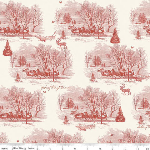 Yuletide - Sleigh Toile on Cream