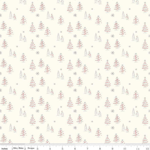 Merry Little Christmas by Sandy Gervais - Trees in Cream