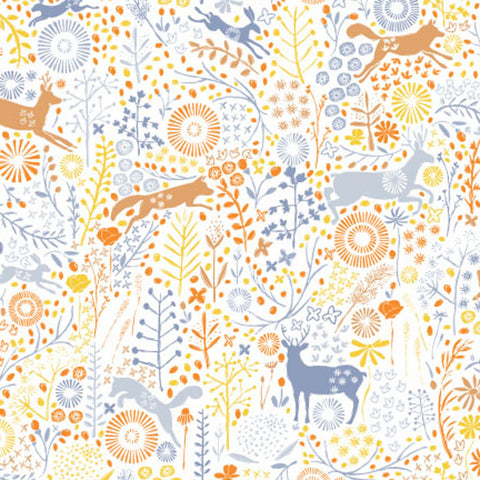 Camelot Fabrics - Meadow Haze by VIcky Yorke - Meadow Wildlife in Multi