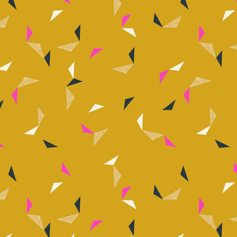 Cotton Candy Flying Triangles in Mustard