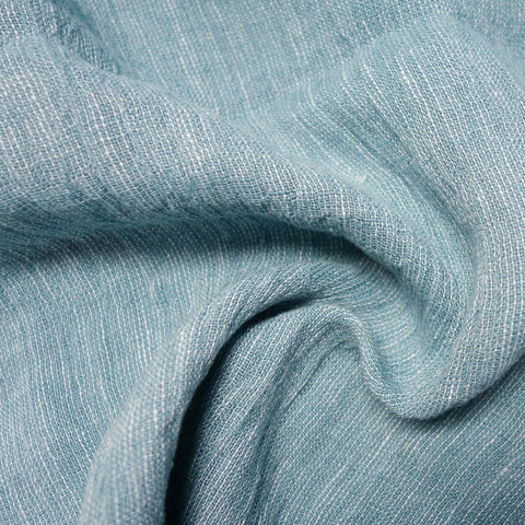 Casper Yarn Dyed Linen - Med. Blue and White