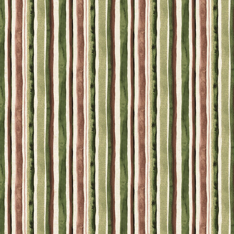 Wildflower cotton/linen - Stripes in Green Multi