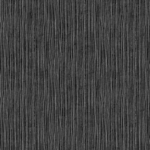 Figo Harmony Linen/Cotton blend - Stripes in Charcoal