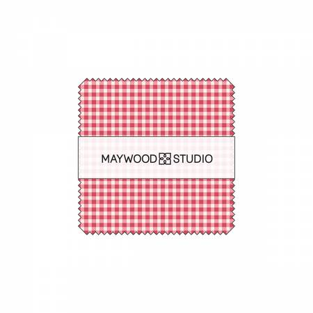 "Maywood Studio Classic Check - 5"" square Charm Pack 42 pieces"