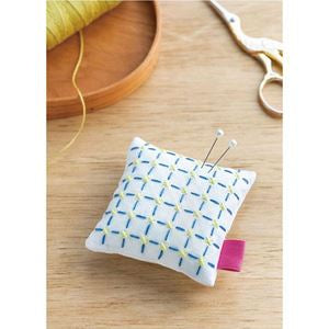Cosmo Pin Cushion Sashiko Kit - Cream/Blue