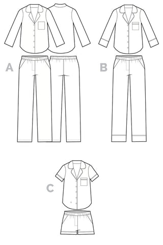 Closet Case Carolyn Pajama Pattern