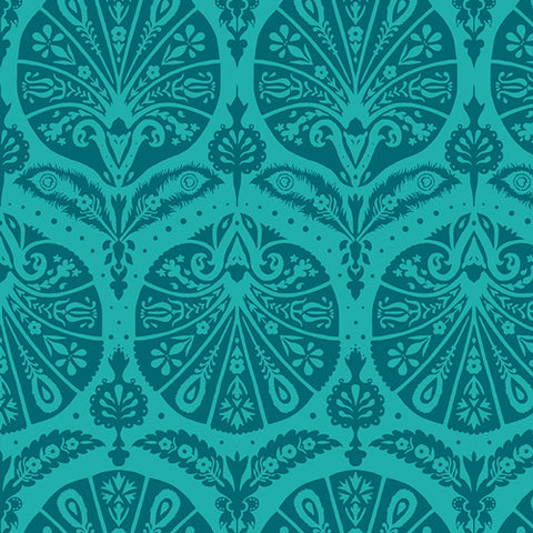 Decadence - Katarina Roccella - Coquille Damask in Teal